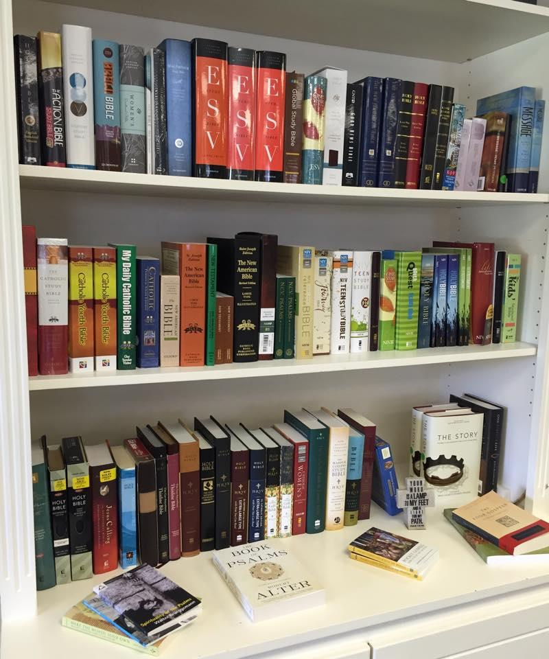 15 translations of the Bible in stock